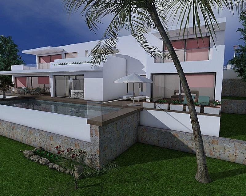 Villa de nueva construcción con estilo moderno