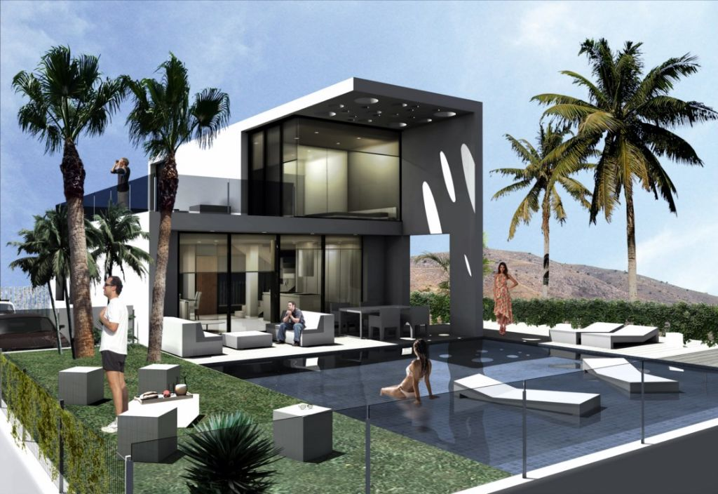 Villas independientes con estilo moderno