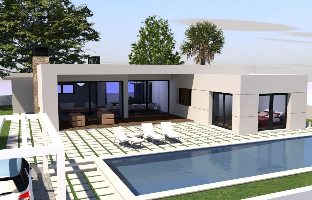 New built villa in modern style