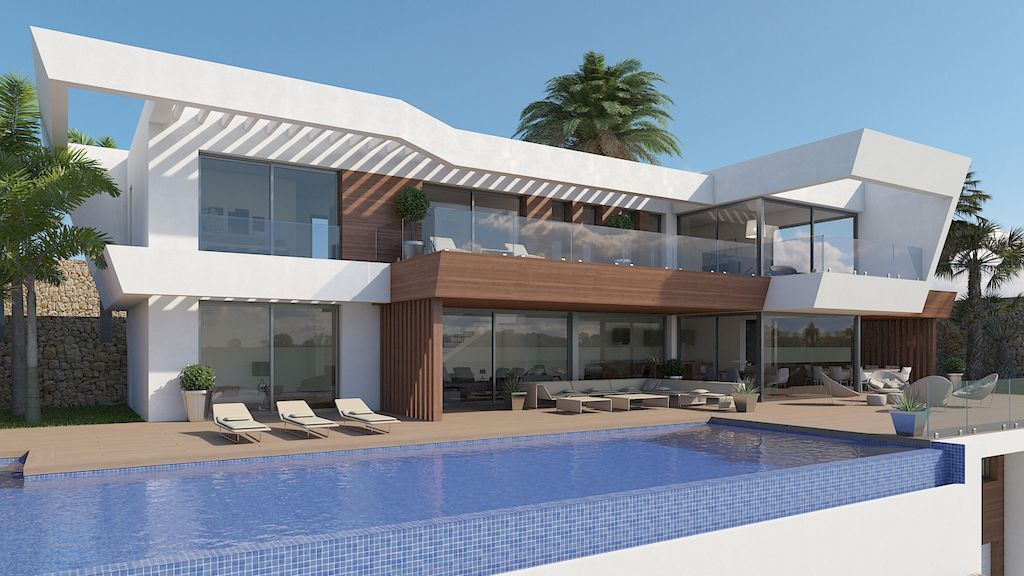 Luxury villa with sea views in project