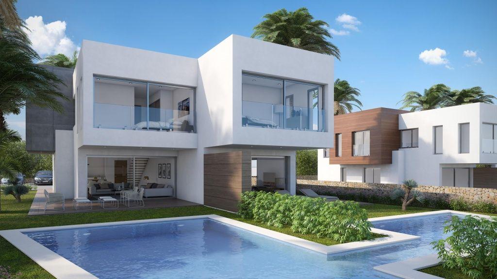 Nouvelles villas d'un style moderne