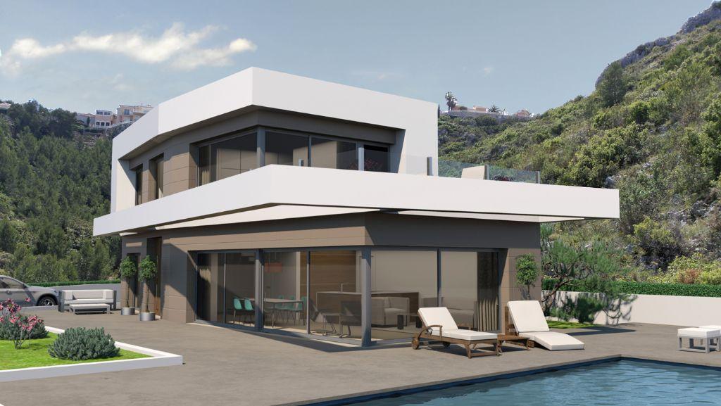Новая строительная вилла с видом на море