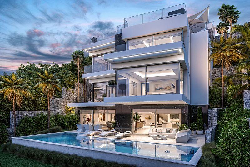 Villa de lujo de obra nueva