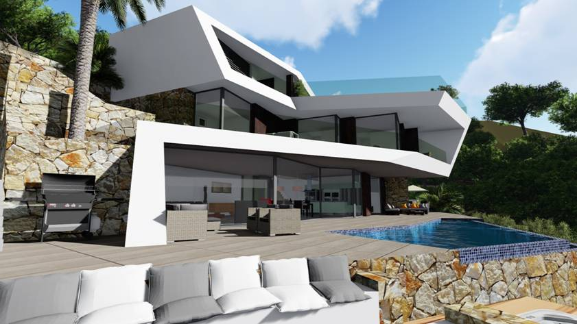 Modern villa in Benissa with sea views