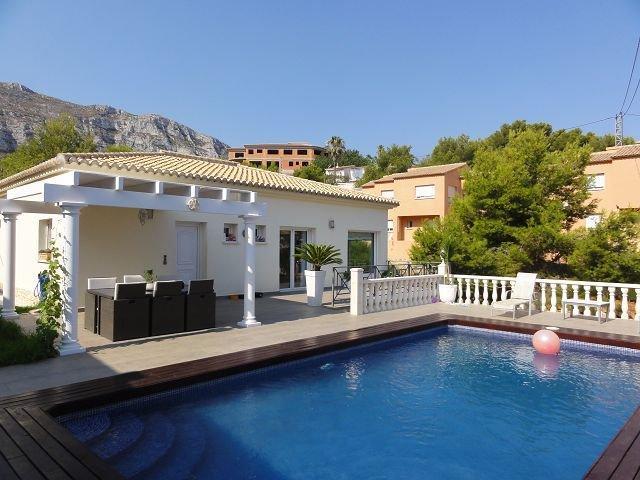 Modern villa with sea views