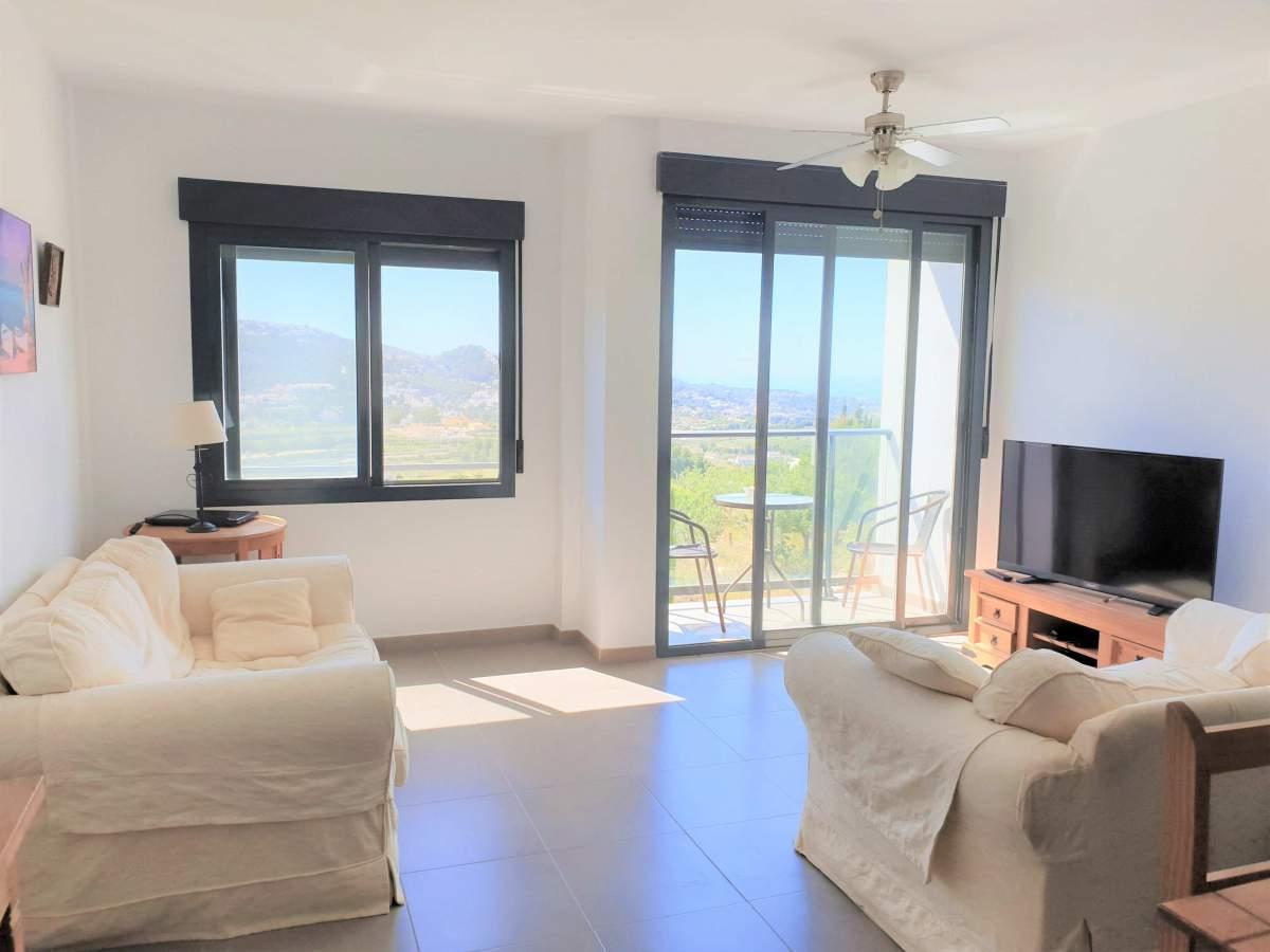 Apartamento con vistas espectaculares en Benitachell